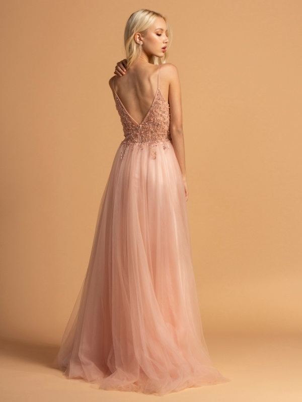Abendkleid Franceska, rose h