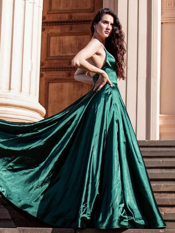 Abendkleid Henrieke Smaragdgrün | VIVIRY Abendkleider