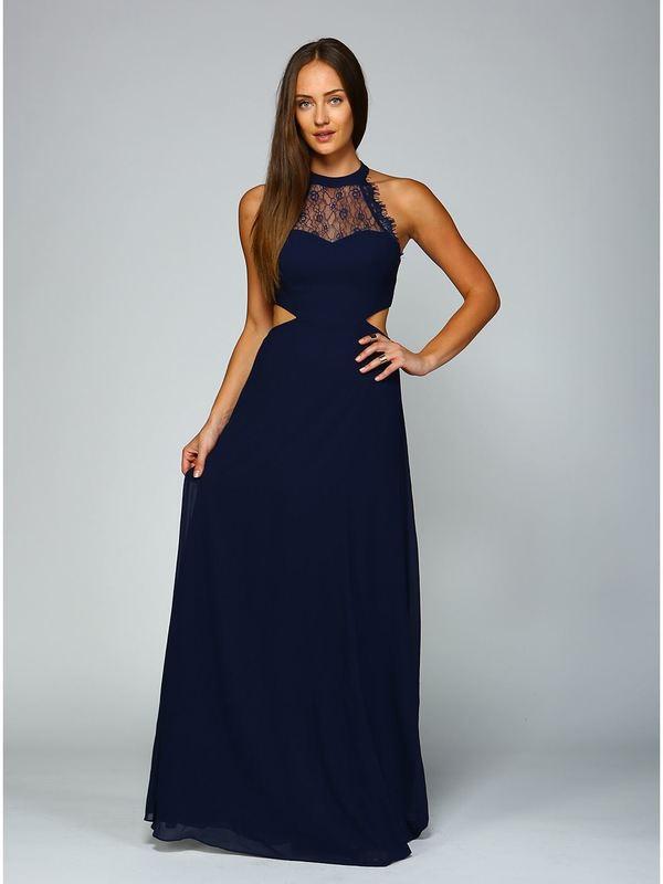 🎀Abendkleid Maya Marineblau kaufen  VIVIRY Abendkleider