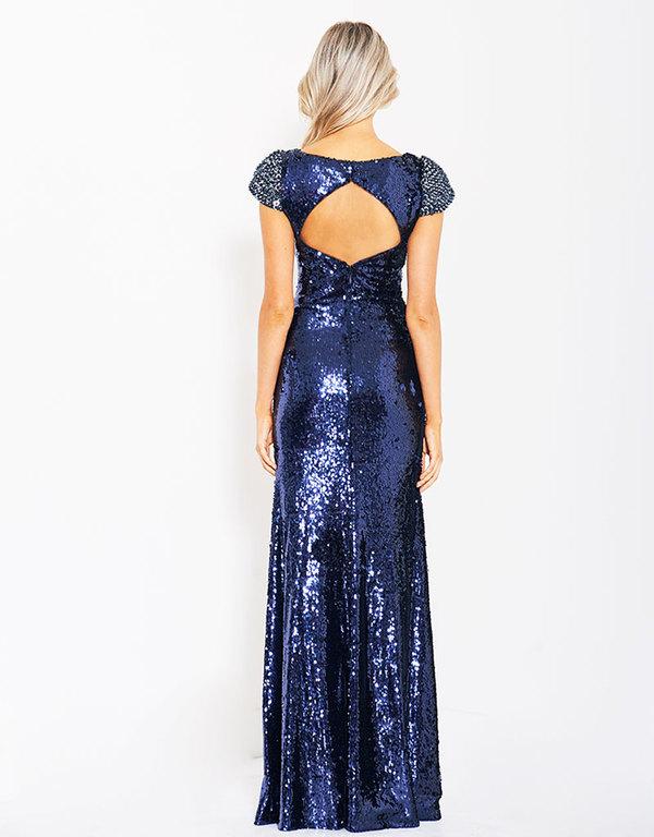 Abendkleid Karmenita Blau kaufen  VIVIRY Abendkleider