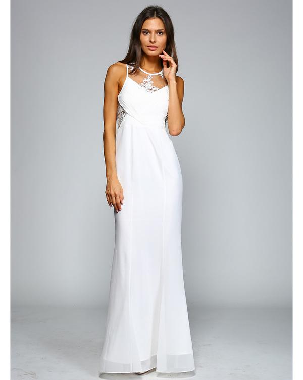 ?Abendkleid Rosie Weiß kaufen| VIVIRY Abendkleider