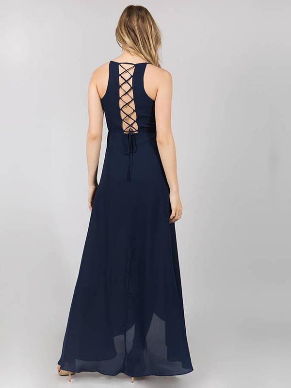 Abendkleid Merret Marineblau kaufen| VIVIRY Abendkleider