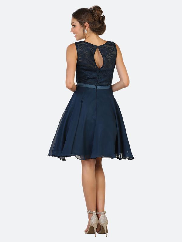 cocktailkleid xandra blau kaufen viviry kleider. Black Bedroom Furniture Sets. Home Design Ideas