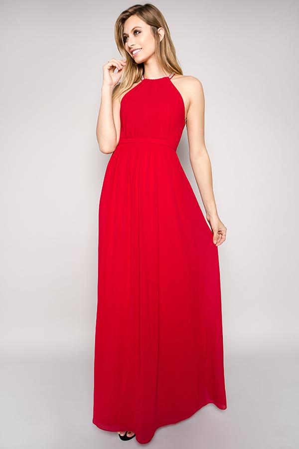 Abendkleid Mila Weinrot kaufen| VIVIRY Abendkleider