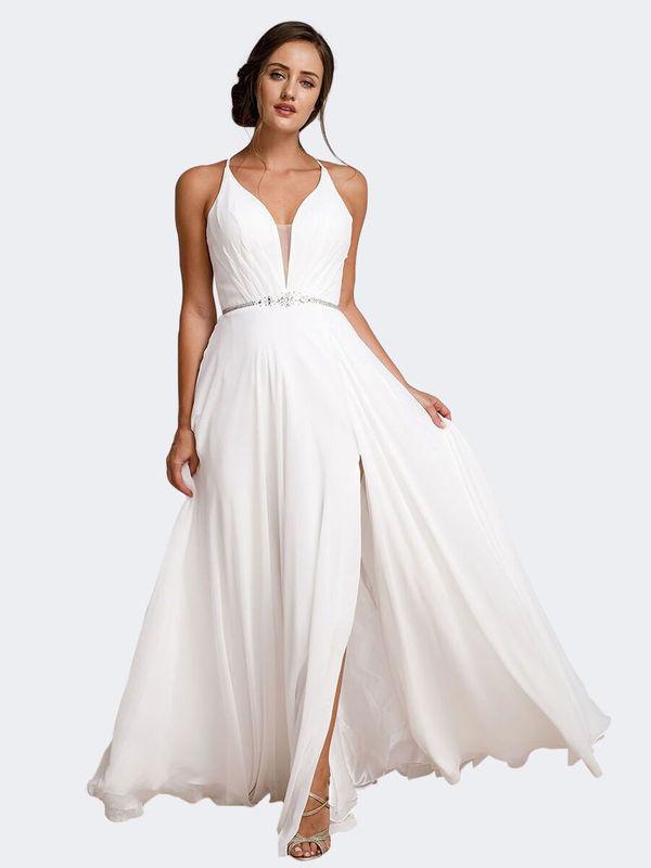 Abendkleid Alina Weiß kaufen| VIVIRY Abendkleider