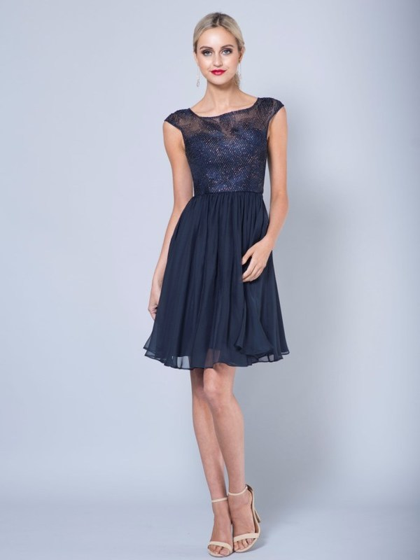 Cocktailkleid Zoe, marineblau v