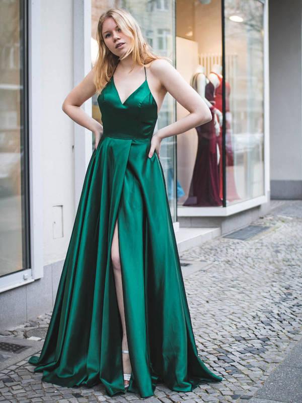 Abendkleid Harley Smaragdgrün bei VIVIRY Abendkleider kaufen