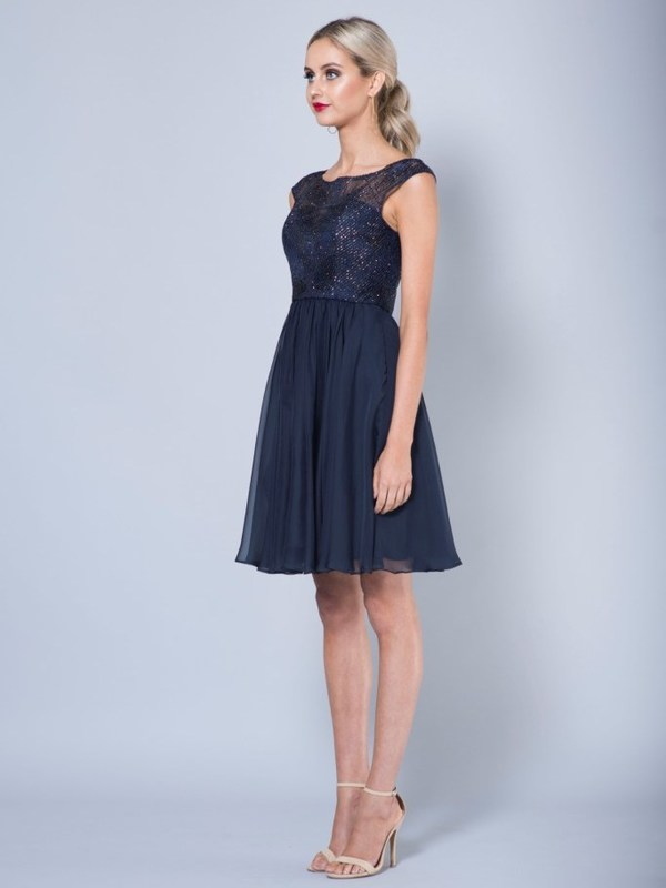 Cocktailkleid Zoe, marineblau s