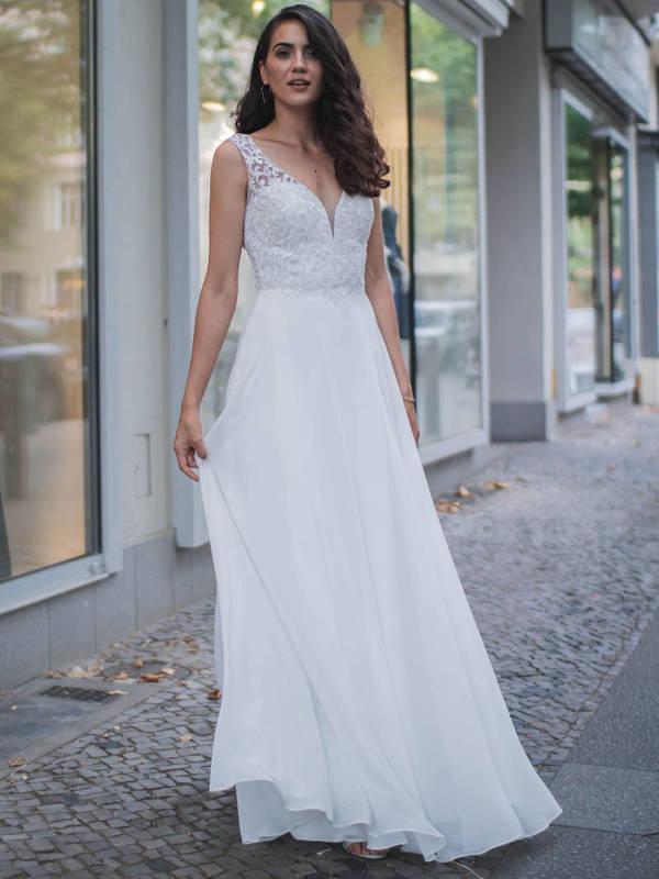 Abendkleid Ombretta Weiß kaufen | VIVIRY Abendkleider