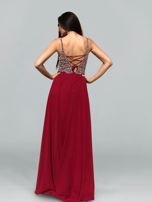 6a1575968d19b9 🎀Abendkleid Arabella Weinrot kaufen| VIVIRY Abendkleider