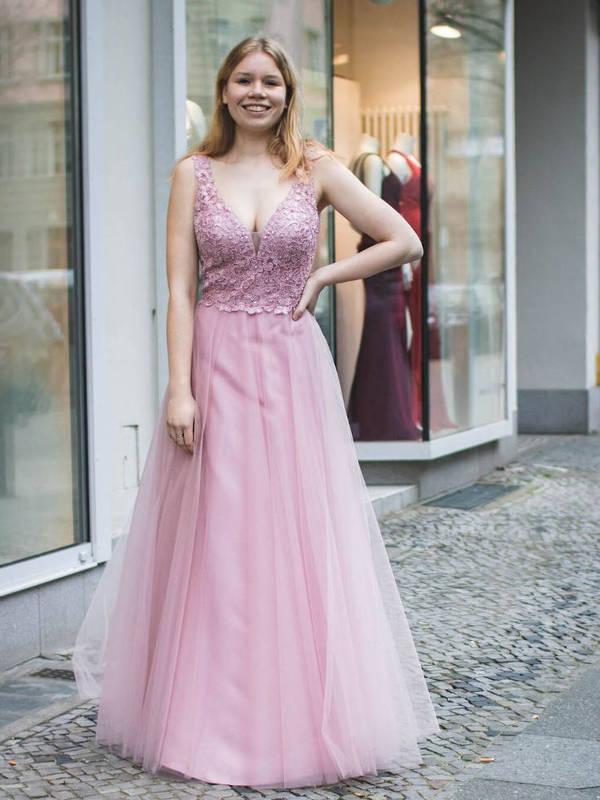 Abendkleid Orelia Rosa kaufen| VIVIRY Abendkleider