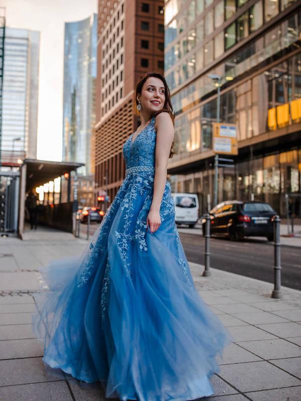 Abendkleid Hazel Blau   VIVIRY Abendkleider