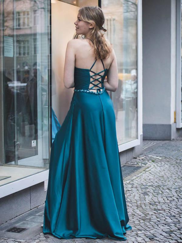Abendkleid Olinah Petrol kaufen| VIVIRY Abendkleider