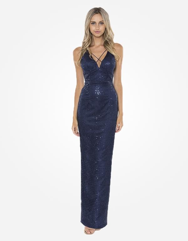 Abendkleid Ulrike Blau kaufen| VIVIRY Abendkleider
