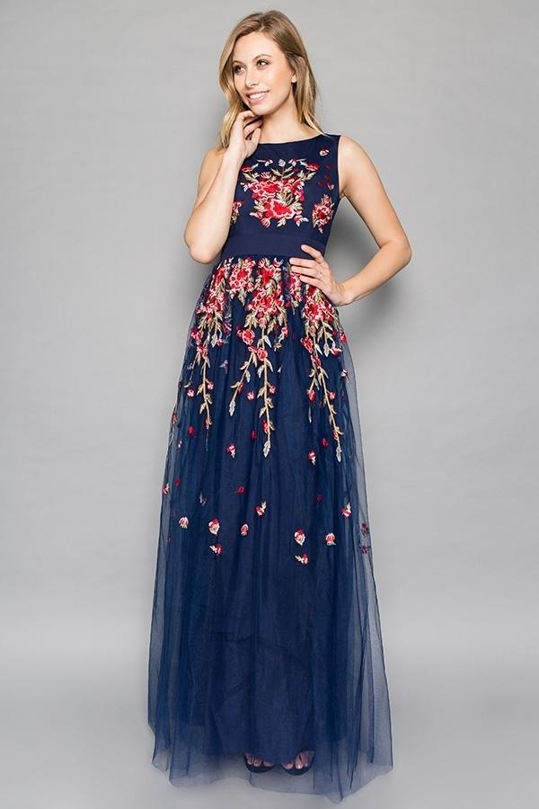 🎀Abendkleid Marisol Blau kaufen  VIVIRY Abendkleider