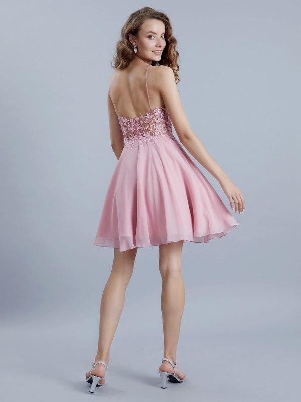 detailed look 9ead7 26017 Abendkleid Hanna Rosa kaufen| VIVIRY Abendkleider