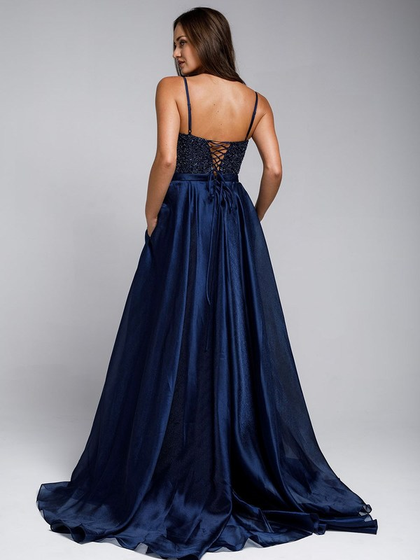 Abendkleid Arisona, marineblau h