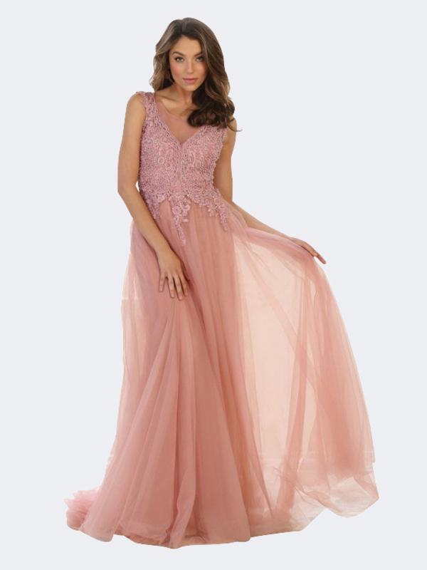 Abendkleid Xayenne Rosa kaufen| VIVIRY Abendkleider