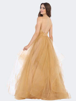 Abendkleid Theresa, gold
