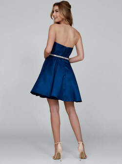 Cocktailkleid Amina, royalblau