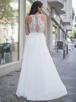 Abendkleid Colienne Silber kaufen| VIVIRY Abendkleider