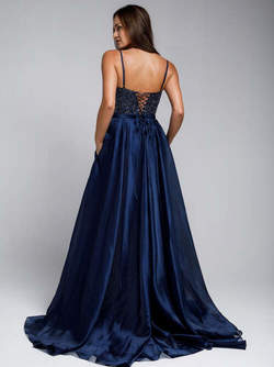 Abendkleid Arisona, marineblau