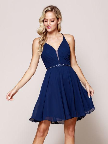 Blaues kleid kurz kombinieren
